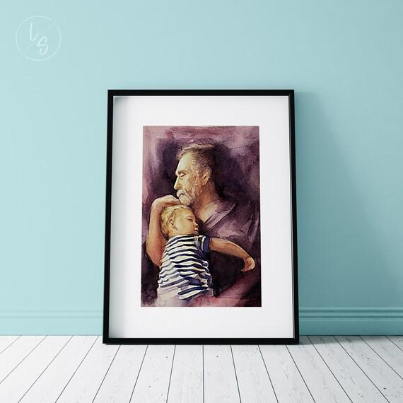 Retrato en acuarela personalizado    Custom watercolor portrait