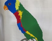 Rainbow Lorikeet Parrot Jigsaw Stained Glass Suncatcher Puzzle