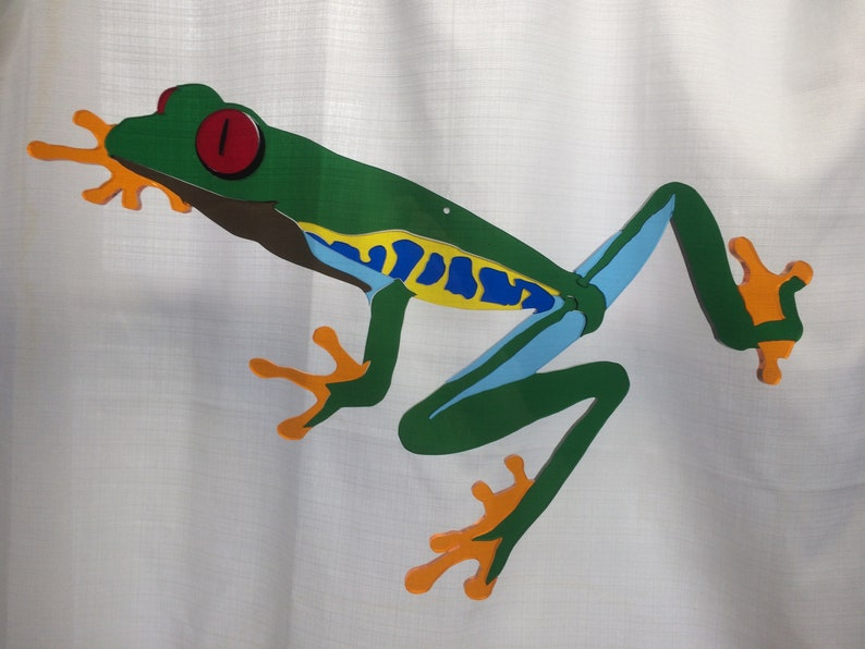 Red-Eyed Tree Frog Jigsaw Stained Glass Suncatcher Puzzle image 0