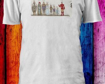 Game Of Thrones Stark Robb Sansa Arya Bran Rickon Men Women Unisex T-shirt 2873