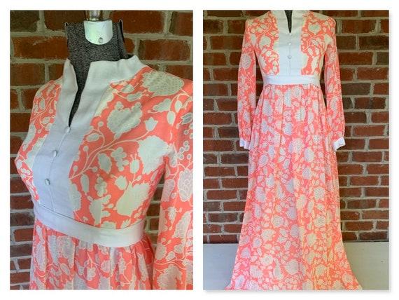 Vintage Floral Dress, Vintage 70s Floral Dress