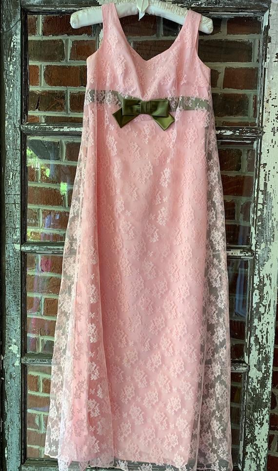 Vintage 60s Pink Lace Dress BabyDoll