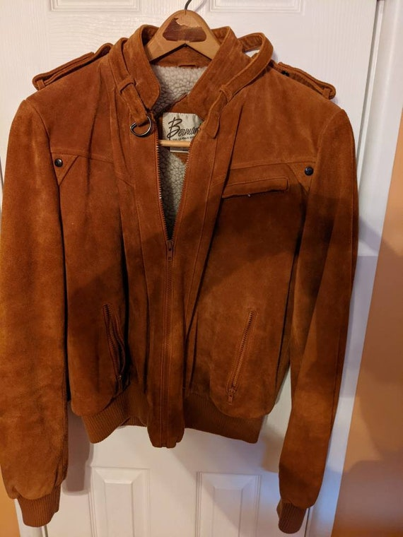 Berman's Brown Moto Leather Jacket