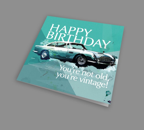 Aston Martin DB5 Greeting Card A5 size