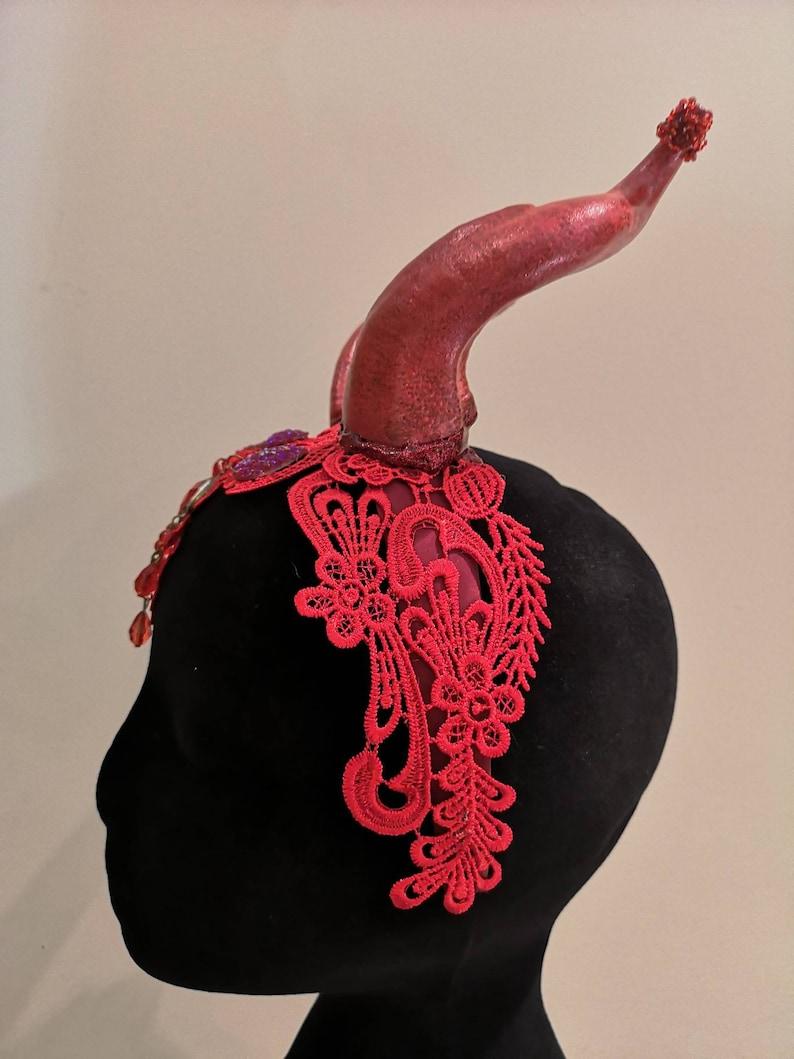 Red Devil Headpiece