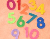 Rainbow Felt Numbers Play Set 0-10 3 quot Felt Board Die Cut Counting Number Montessori Homeschool Library Preschool Colorful Busy Book