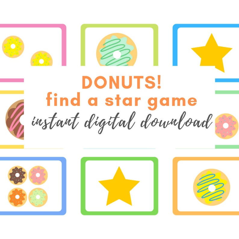 image about Vipkid Printable Props titled Adorable Donuts Printable VIPKID Discover a Star Gain - Gogokid - Food items - Electronic Obtain - Props - Decorations - VIPKID Benefits - VIPKID Celebs