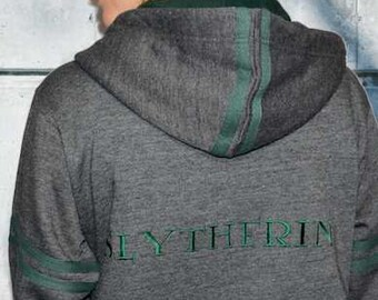 89bde3dc HP129Z Licensed Harry Potter™ Unisex Slytherin™ Embroidered Zipped Hoodie  Hooded Sweatshirt