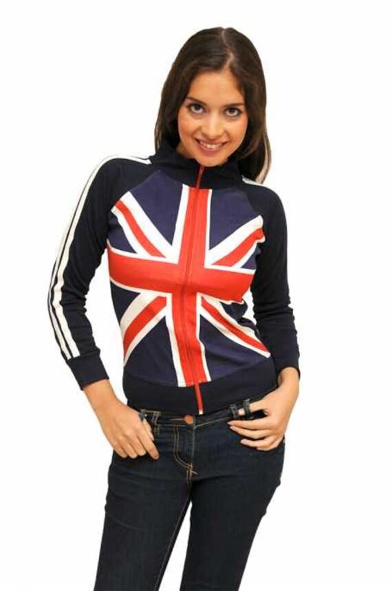 UK Ladies Union Jack Sock Navy Size 4-7