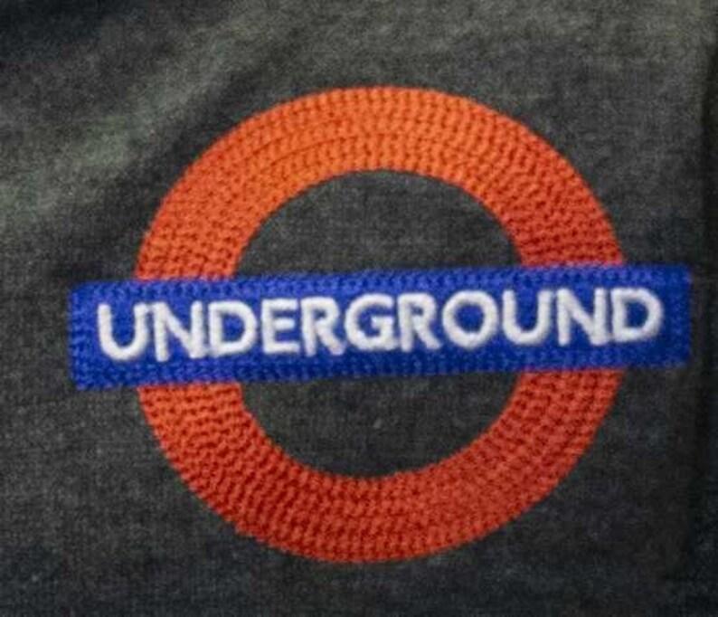 TFL/™129K Kids Licensed Chain Stitch Embroidery Underground/™ Hoodie Grey