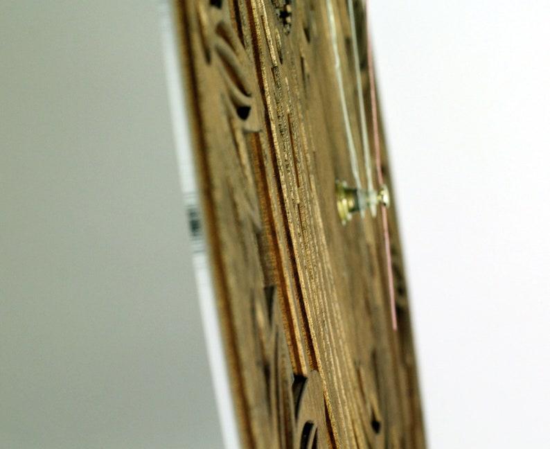 Owl Wall Clock Round Intelligent Watches Décorer En bois Ercition Design Acrylique horloge Art Decor Cadeau moderne