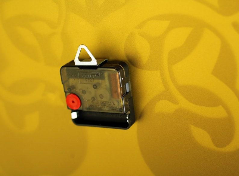 Vinyl Waches Wall Clock Round Décorer Golden-Bronze Arbre Acrylique Art Décor Cadeau moderne