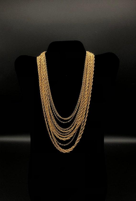 Vintage Crown Trifari Multi-Chain Necklace