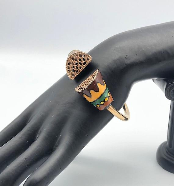 """Eisenberg 1970s """"Artist Series"""" Bracelet"""
