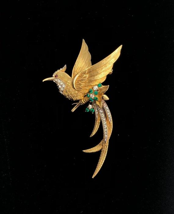 Vintage Marcel Boucher Bird of Paradise Brooch