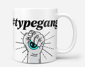 FAITH White Crypto Coffee Mug, Typerium, Art, Coin, Charity, Blockchain, Bitcoin, Ethereum, Cryptocurrency, Gift, Typography, Coffee, Tea