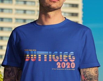 30771458 Pete Buttigieg For 2020 - Vintage Indiana Edition - Trump Russia Political  Resistance 2020 T-shirt - Men's Unisex and Ladies Slim Fit Sizes