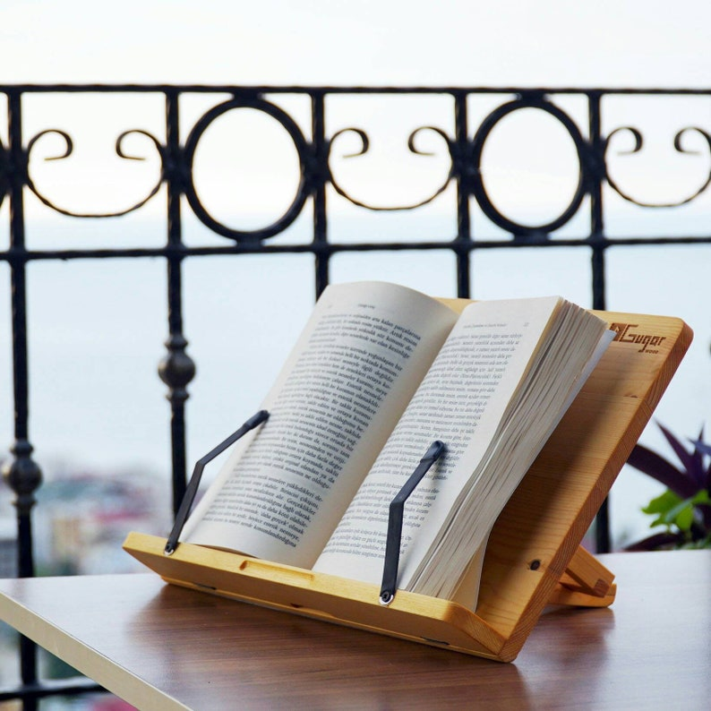 Handmade Tablet or Book Holder Reading Stand.