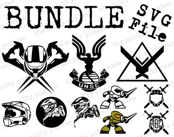 Halo Infinity Bundle Master Chief Helmet Logo Etc Svg Vector File For Cricut Vinyl Cut And More