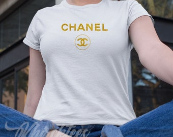 603f256a Best Selling Chanel Logo Gold Women's Tshirt, Chanel Unisex Tshirt, Chanel  Custom Shirt, Cute Chanel Logo Gold Shirt, Chanel Tanktop