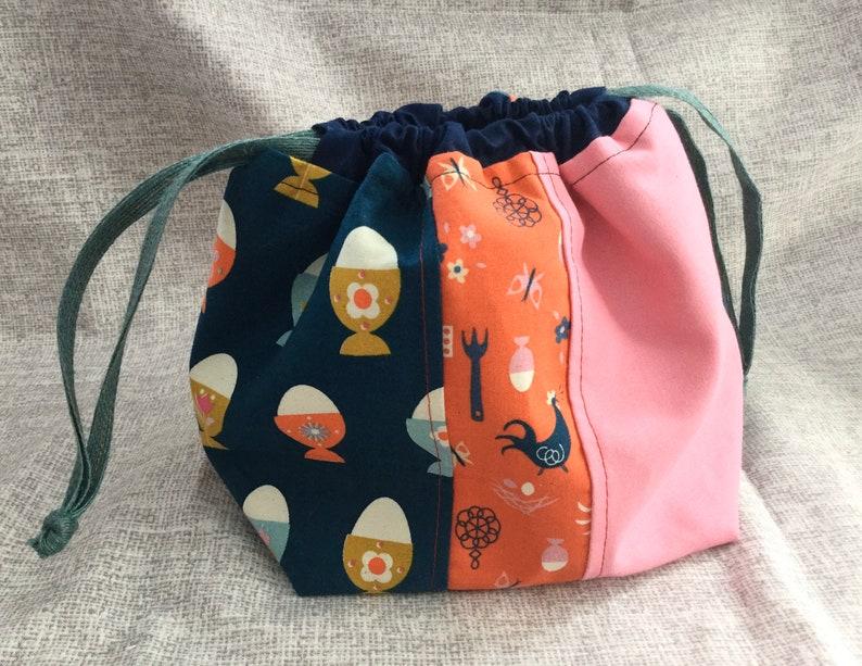 Chicken Knitting Bag Crochet project bag Knitting Project Bag