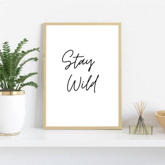 Soggiorno selvaggio // Stampa a parete //Home Décor | Etsy
