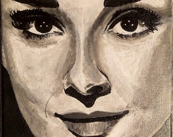 """Acrylic painting on canvas-""""Audrey 1"""""""
