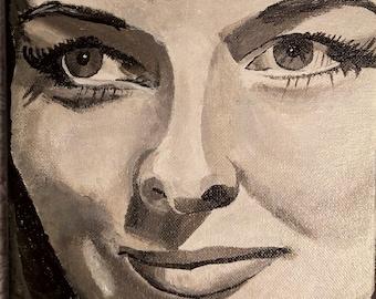 "Acrylic painting on canvas-""Katharine 1"""