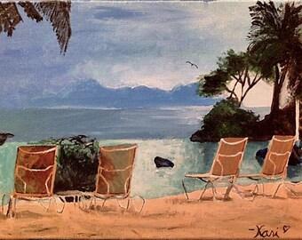 """Original Acrylic Painting–""""Take Me, Tahiti!"""" on Canvas"""