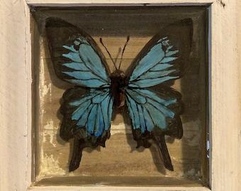 "Original 3D Acrylic Painting on Resin Layers- ""Whoa."""