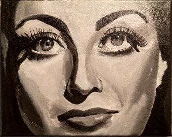 "Acrylic painting on canvas-""Joan 1"""