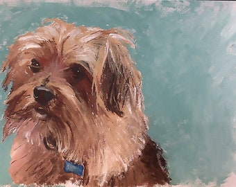 Custom Pet Portraits on Framed 9 x 12 Canvas Paper