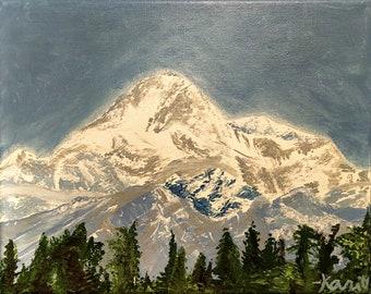 "Original Acrylic Painting ""Denali 1"" on Canvas"
