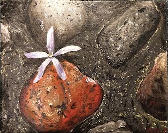 "Original Acrylic Painting–""Rocky Growth"" on Canvas"
