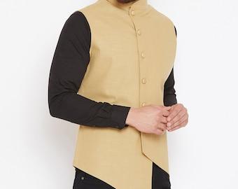Bhandgala Hochzeit Männer Mantel Jodhpuri ethnische Achkan Jacke Blazer traditionelle erhältlich Indische Sherwani Anzug plus Anzug Größe blau für ymv0NOn8w
