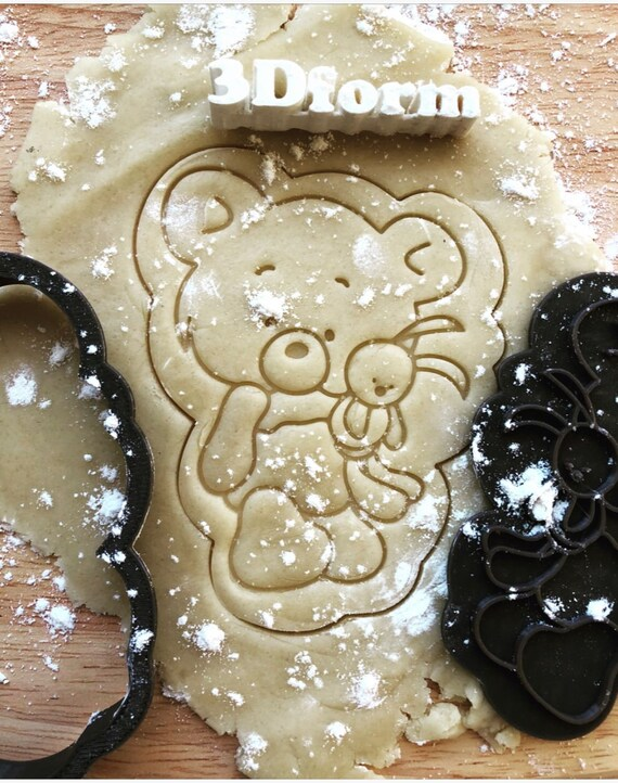 Poodle Cookie Cutter Dog cutters animal Custom stamp for cake topper gingerbread d\u00e9cor sugar cookies polimer clay silicone mold