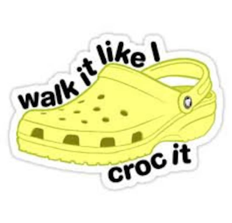 graphic about Vsco Printable Stickers titled Vsco Croc Sticker