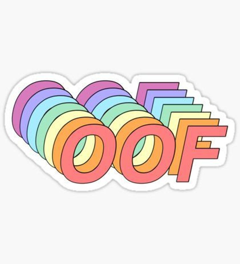 Vsco Oof Sticker