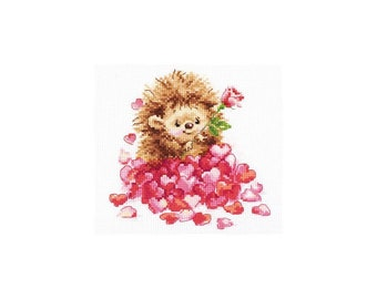 Good Night! Alisa Counted Cross Stitch Kit Hedgehog