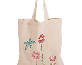 Printed Bag to embroider Squirrel Rico Design Embroidery  Kit