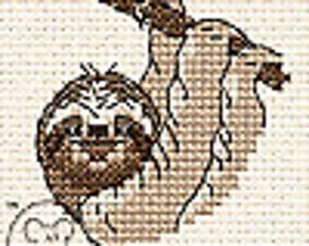 MOUSELOFT Paw Prints Cross Stitch Kit ~ HUSKY ~ NOUVEAU