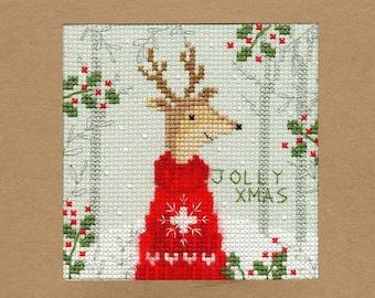 Bothy Threads Cross Stitch Kit Snowy Man XMAS17 Christmas cards