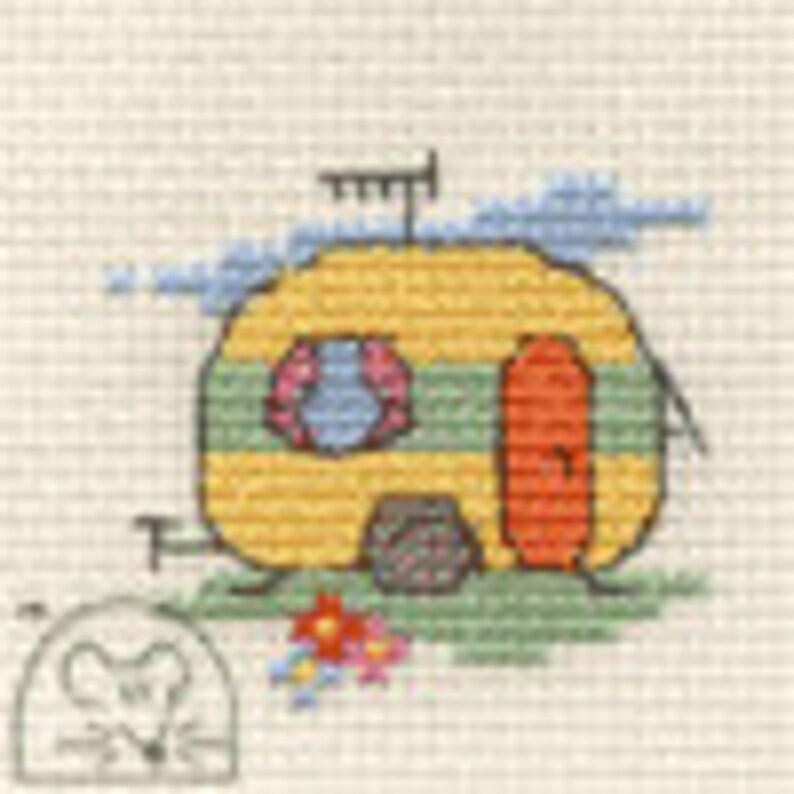 Mouseloft Mini Cross Stitch Kit Stitchlets Collection Caravan