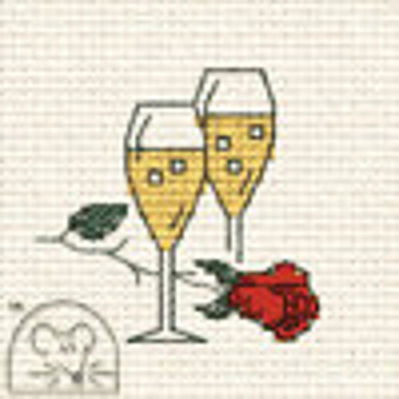 Just Married Mouseloft Stitchlets For Special Occasions With Card and Envelope