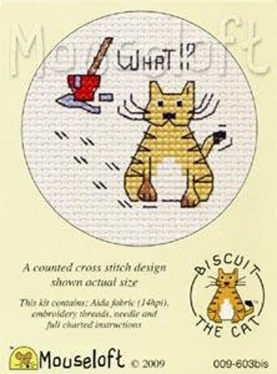 Christmas Donkey Stitchlet With card /& Envelope by Mouseloft