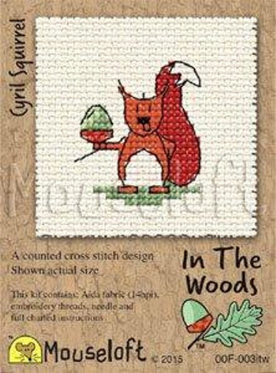 Ferdinand Fox Stitchlet by Mouseloft Counted Cross Stitch Kit