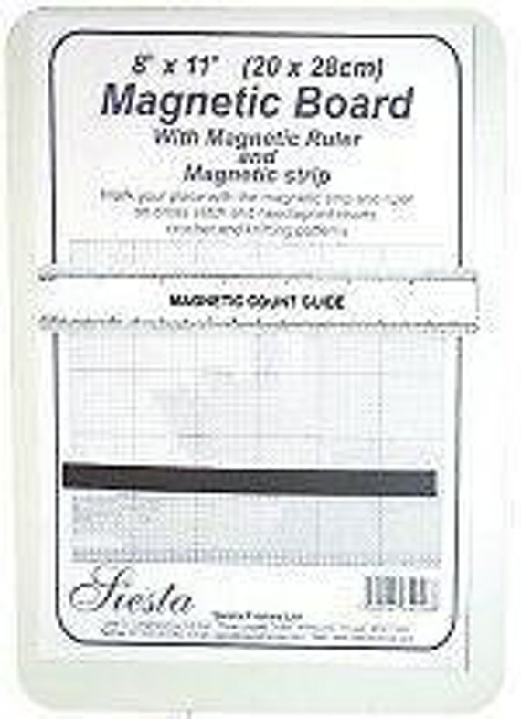 Siesta Frames Magnetic Board 8 x 11 20 x 28 cm Ruler /& Strip to mark place