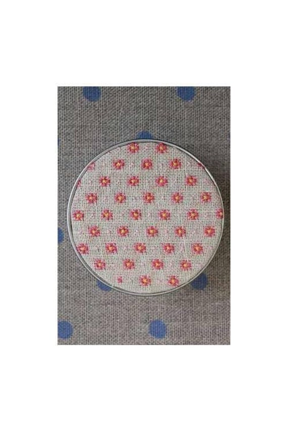 Rose on Pink Fabric Maison Sajou Cross Stitch  Kit Box to Embroider