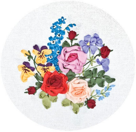 Panna Ribbon Embroidery Kit C-1168 Sweet Note A beautiful bouquet