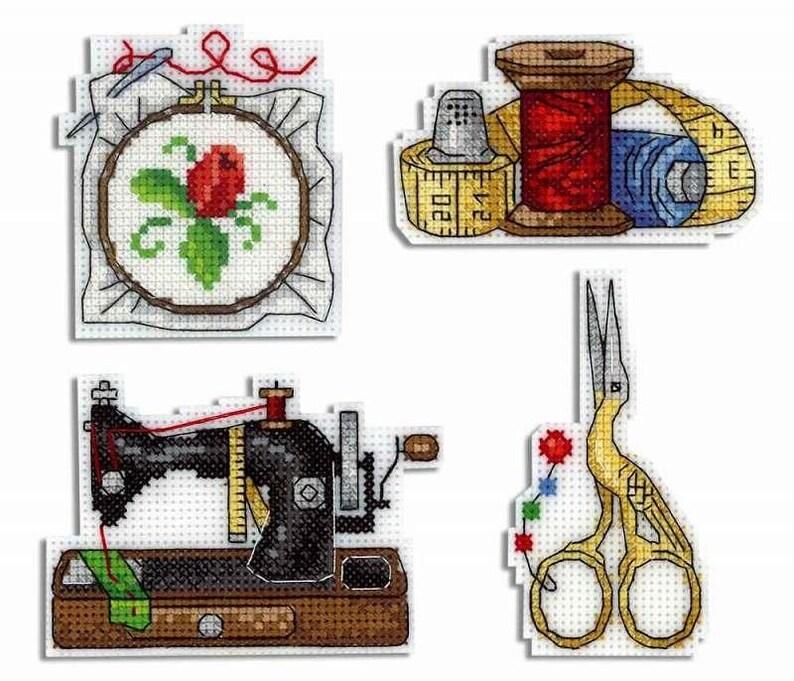 Cross Stitch Kit Sea Mood Magnets R-275